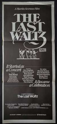 The Last Waltz Poster Original Daybill 1978 The Band Martin Scorsese