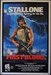 First Blood Poster One Sheet Original 1982 Stallone Rambo Drew Struzan Art