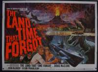 The Land That Time Forgot Poster Original British Quad 1975 Doug McClure