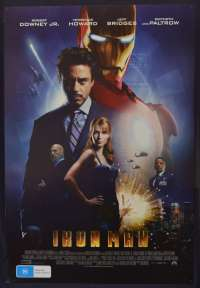 Ironman Movie Poster Original One Sheet 2008 Rolled D/S Robert Downey Jr.