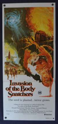 Invasion Of The Body Snatchers Poster Original Daybill 1978 Donald Sutherland