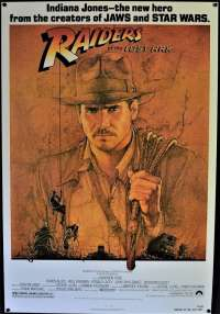 Raiders Of The Lost Ark Poster One Sheet Reprint 1994 Indiana Jones Amsel Art