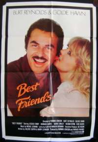 Best Friends Movie Poster Original One Sheet 1982 Burt Reynolds Goldie Hawn