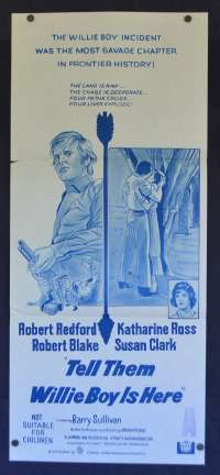 Tell Them Willie Boy Is Here Daybill Poster Robert Redford Katherine Ross
