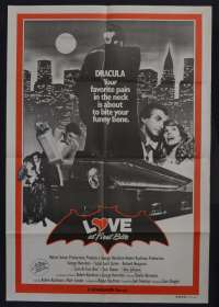 Love At First Bite Poster Original One Sheet Poster George Hamilton Bram Stoker Dracula
