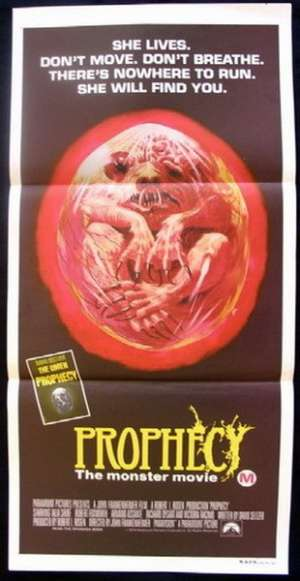 Prophecy Daybill Movie poster Talia Shire, Armand Assante