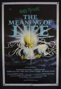 The Meaning Of Life Poster One Sheet Original 1983 Monty Python John Cleese