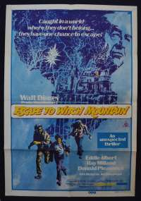 Escape To Witch Mountain Poster Original One Sheet 1975 Disney Eddie Albert