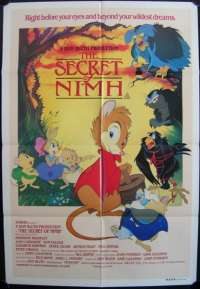 The Secret Of Nimh Poster Original One Sheet 1982 Dom DeLuise Don Bluth