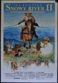 The Man From Snowy River 2 Movie Poster Original One Sheet 1988 Tom Burlinson