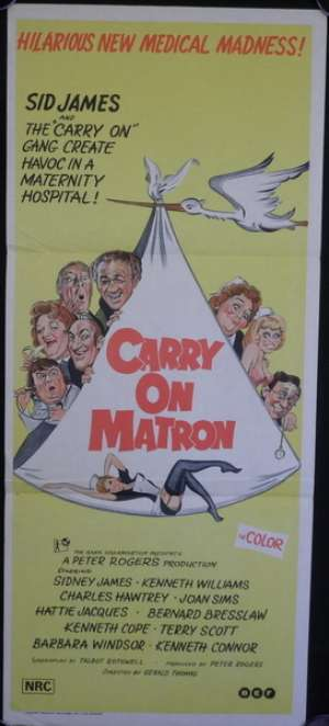 Carry On Matron Daybill Poster Original 1972 Sid James Kenneth Williams