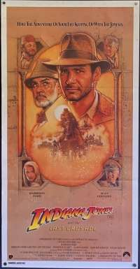 Indiana Jones And The Last Crusade Poster Original Daybill 1989 Harrison Ford