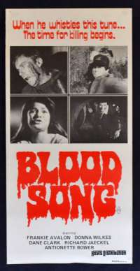 Blood Song Poster Original Daybill 1982 ROLLED Never Folded Dream Slayer Slasher