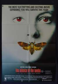 The Silence Of The Lambs Poster Original One Sheet 1991 Jodie Foster Anthony Hopkins
