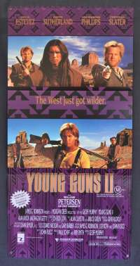 Young Guns 2 Poster Original Daybill 1990 Emilo Estevez Kiefer Sutherland