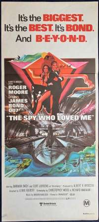 The Spy Who Loved Me Poster Original Daybill FIRST RELEASE 1977 James Bond
