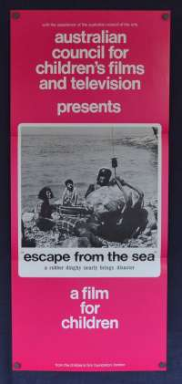 Escape From The Sea Movie Poster Original Daybill Children's Film Foundation