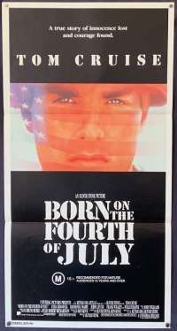 Born On The Fourth Of July Poster Original Daybill 1989 Tom Cruise Vietnam