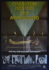 The Awakening Movie Poster Original One Sheet 1980 Charleton Heston Horror