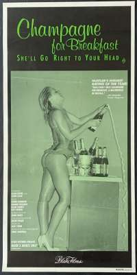 Champagne For Breakfast Movie Poster Rolled Daybill Blake Films Sexploiatation