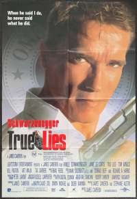 True Lies Poster One Sheet Original 1994 Schwarzenegger Jamie Lee Curtis