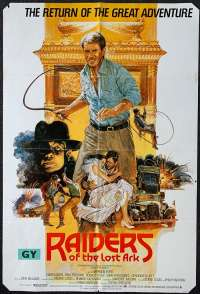 Raiders Of The Lost Ark Poster Original UK One Sheet 1982 Bysouth Art Indiana Jones