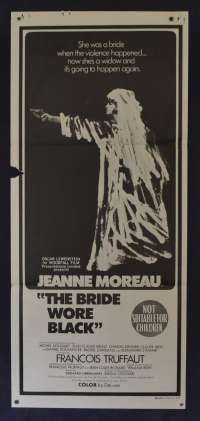 The Bride Wore Black Poster Daybill Original 1968 Jeanne Moreau Horror