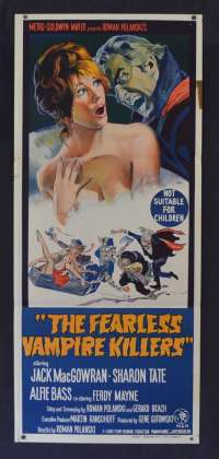 The Fearless Vampire Killers Poster Rare Original Daybill 1967 Polanski Sharon Tate