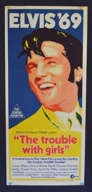 The Trouble With Girls Daybill Original Poster 1969 Elvis Presley Marlyn Mason