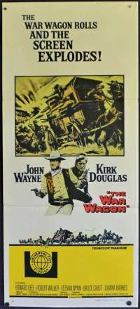 The War Wagon Poster Original Daybill 1967 John Wayne Kirk Douglas Gatling Gun
