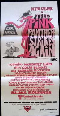 The Pink Panther Strikes Again 1976 Peter Sellers Daybill movie poster