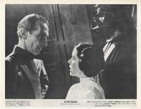 Star Wars Movie Still Reproduction B/W Peter Cushing Carrie Fisher