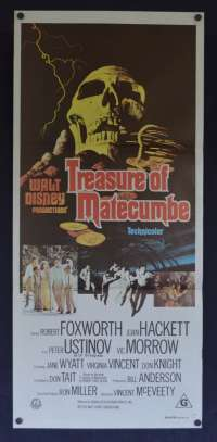 Treasure Of Matecumbe Poster Original Daybill 1976 Disney Peter Ustinov Vic Morrow