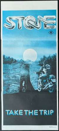 Stone Poster Original Daybill Re-Issue Sandy Harbutt Ken Shorter Biker Gangs