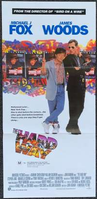 The Hard Way Poster Original Daybill 1991 Michael J Fox Back To The Future