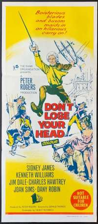Don't Lose Your Head Daybill Poster 1966 Sid James Kenneth Williams Carry On