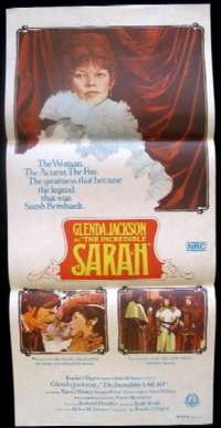 The Incredible Sarah Movie Poster Original Daybill Glenda Jackson Sarah Bernhardt