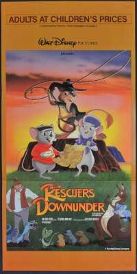 The Rescuers Down Under Movie Poster Original Daybill Disney John Candy