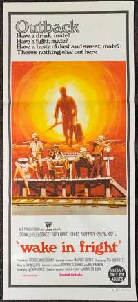 Wake In Fright Poster Original Daybill 1971 Gary Bond Donald Pleasence Chips Rafferty